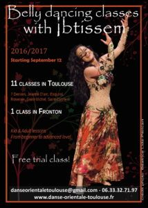 Belly dancing classes with Ibtissem