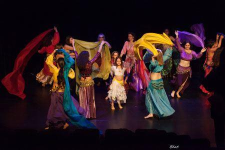 Oriental dance class